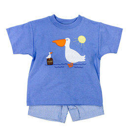 The Bailey Boys Pelican Applique Boys Short Set