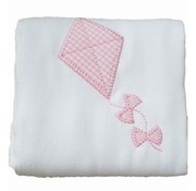 3 Marthas Pink Kite Appliqued Burp Cloth