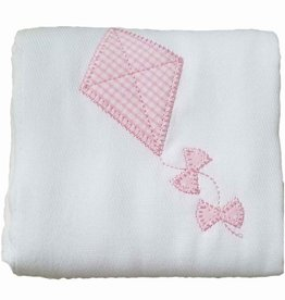 3 Marthas Pink Kite Appliqued Burp Cloth