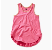 Tea Collection Solid Ruffle Tank