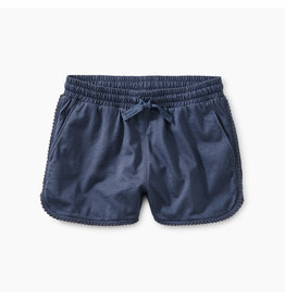 Tea Collection Pom Pom Dolphin Shorts in Crown Blue