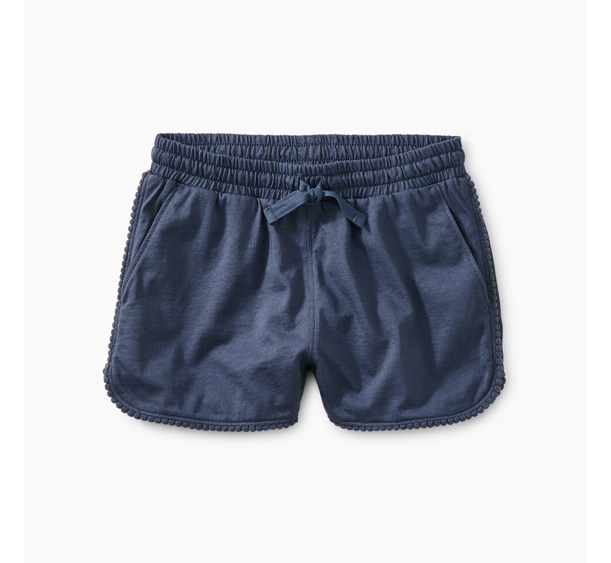 Pom Pom Dolphin Shorts in Crown Blue
