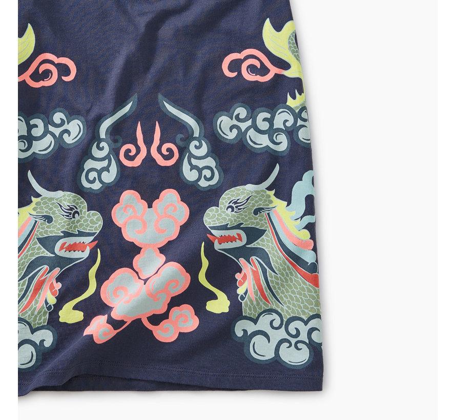 Dragon Boat Rolled Cuff Dress