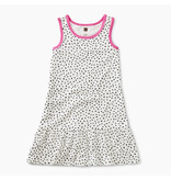 Tea Collection Printed Tank Dress in Dragonfruit