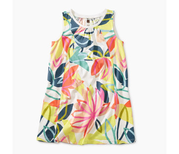 Tea Collection Printed Trapeze Dress in Tradewinds Floral