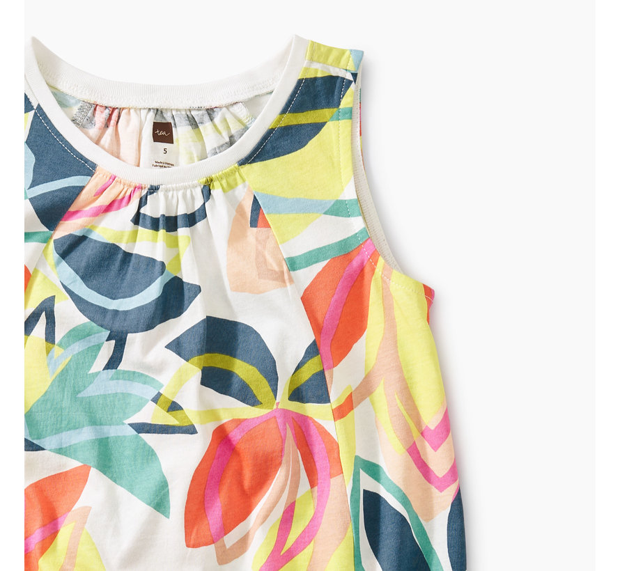 Printed Trapeze Dress in Tradewinds Floral