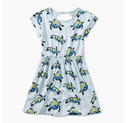 Tea Collection Turtle Twirl Printed Keyhole Dress