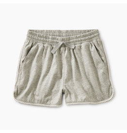 Tea Collection Pom Pom Dolphin Shorts Medium Heather Grey