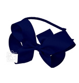 Ribbon Wrapped Metal Headband with 5.5 inch Bow (Multiple Colors)