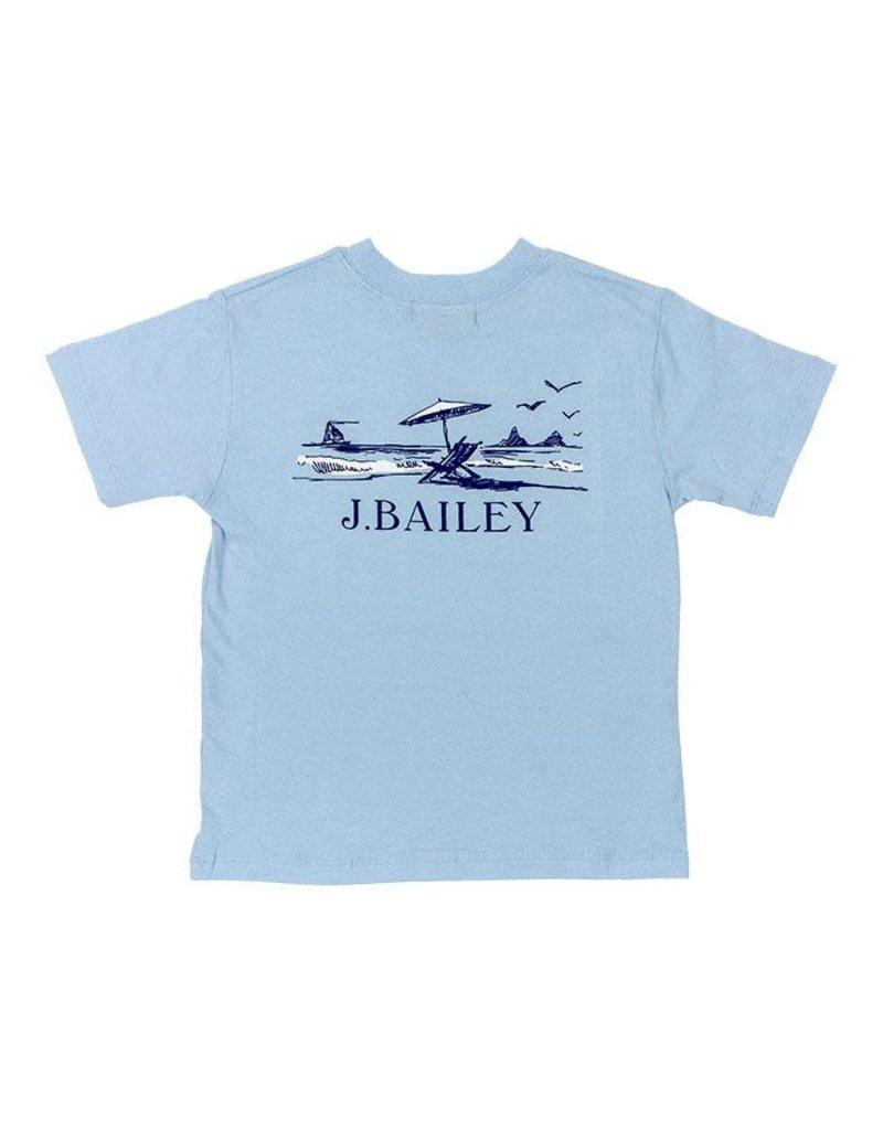 The Bailey Boys Beach Tshirt on Aqua