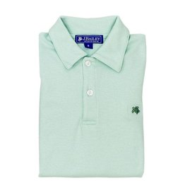 J Bailey Short Sleeve Polo in Sea Glass