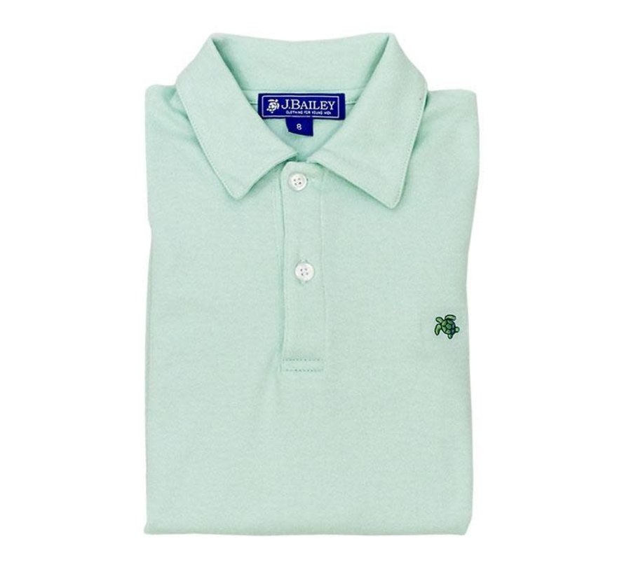 Short Sleeve Polo in Sea Glass