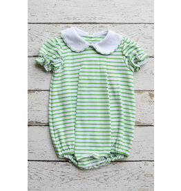 Zuccini Basic Girls Lime Green Stripe Bubble