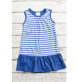Zuccini Basic Sleeveless Girl Dress in Royal Stripe
