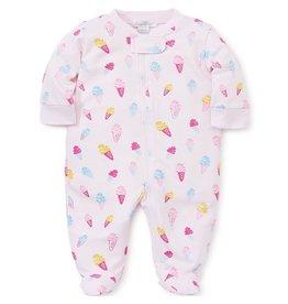 Kissy Kissy Sprinkles Zip Front Footie Pajamas