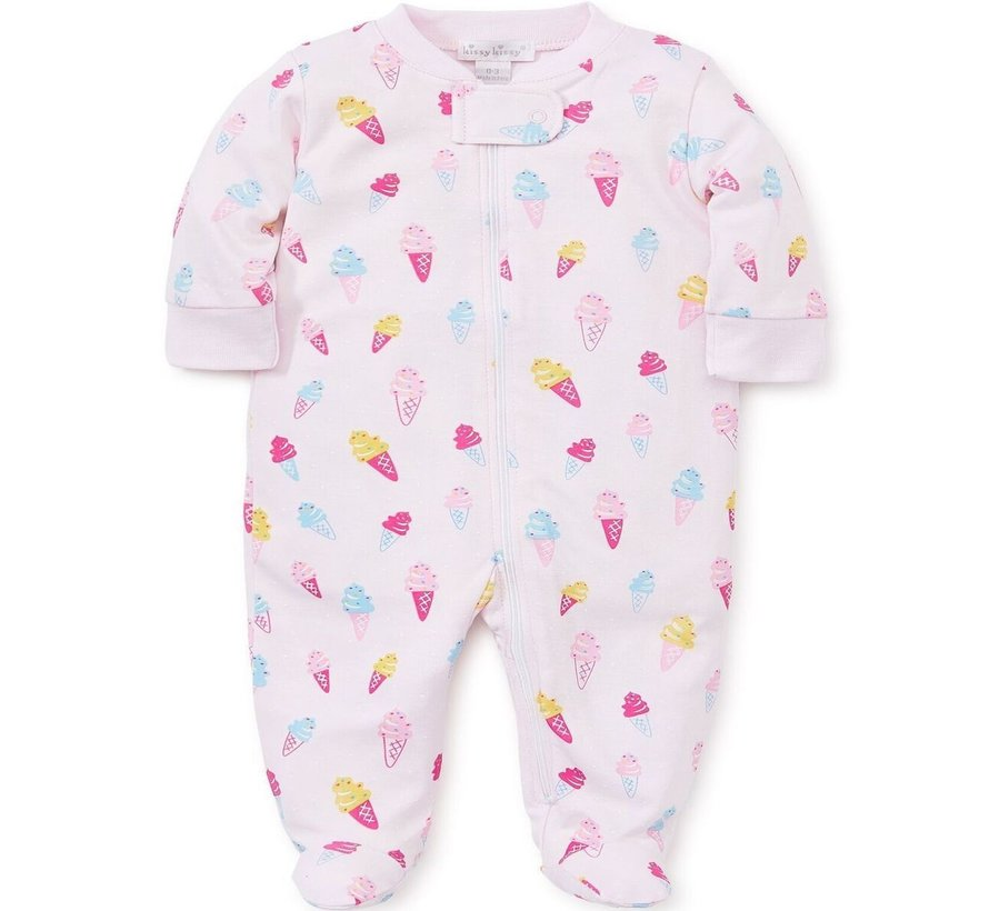 Sprinkles Zip Front Footie Pajamas