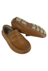 Kone Driving Moccasin Penny Loafer Style in Natural Leather