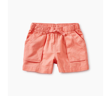 Tea Collection Solid Woven Pull-On Shorts in Bubblegum
