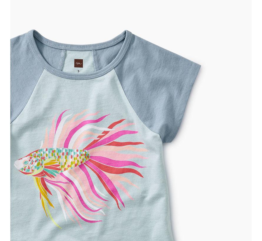 Thailan Beta Fish Raglan Tunic