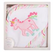 3 Marthas Unicorn Hooded Towel w/washcloth