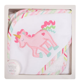 3 Marthas Unicorn Hooded Towel w/washcloth