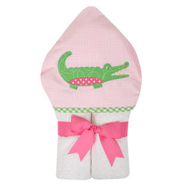 3 Marthas Pink Alligator Everykid Towel