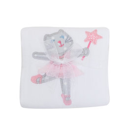 3 Marthas Ballet Kitty Appliqued Burp