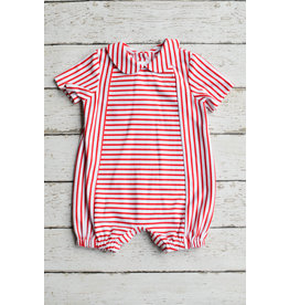 Zuccini Basic Boy Bubble with Round Collar in Red Stripe