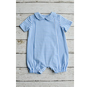 Zuccini Basic Boy Bubble with Round Collar in Party Blue Stripe