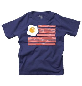 Wes & Willy Eggs and Bacon Flag SS Tee Midnight