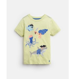 Joules Ray Yellow Pirate Glow in the Dark Tee