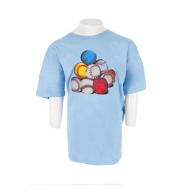 Wes & Willy Baseballs Short Sleeve Tee in NC Blue