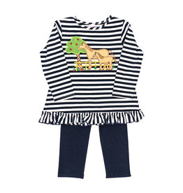 The Bailey Boys Horse Applique Tunic Leggings Set