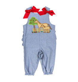 The Bailey Boys Horse Applique Girls Long Bubble