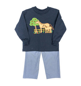 The Bailey Boys Horse Applique Boys Pant Set