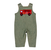 The Bailey Boys Firetruck Applique Reversible Jon JOn