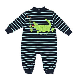 The Bailey Boys *PREORDER* Alligator Applique Knit Bubble