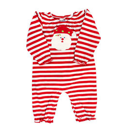 The Bailey Boys *PREORDER* Santa Face Girls Knit Romper