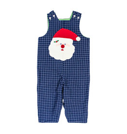 The Bailey Boys Santa Face Applique Reversible Jon Jon