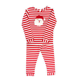 The Bailey Boys Santa Face Applique Girls Lounge Wear