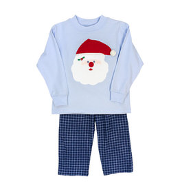 The Bailey Boys Santa Face Applique Boys Pant Set