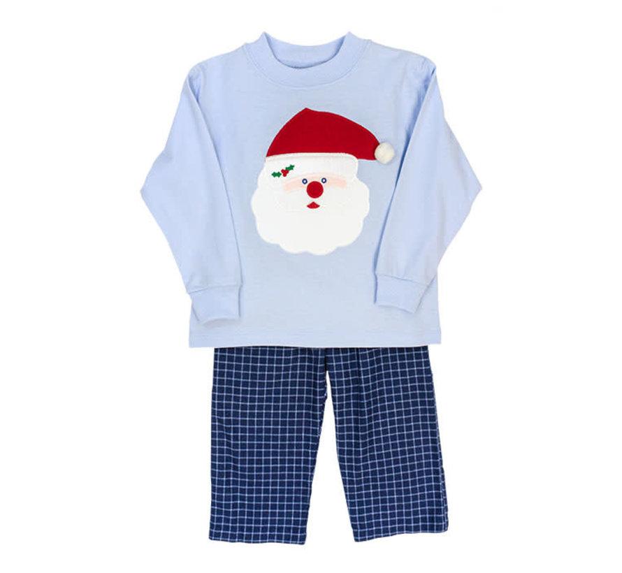 *PREORDER* Santa Face Applique Boys Pant Set