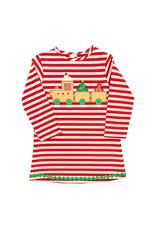 The Bailey Boys Gingerbread Train Applique Knit Dress