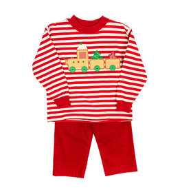 The Bailey Boys *PREORDER* Gingerbread Applique Boys Pant Set
