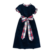 The Bailey Boys *PREORDER* Navy Cord Empire Dress