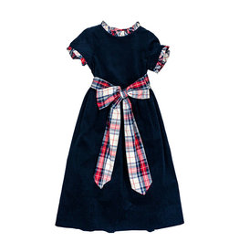 The Bailey Boys Navy Cord Empire Dress
