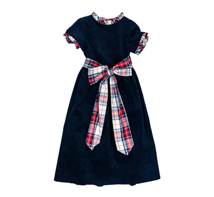 *PREORDER* Navy Cord Empire Dress