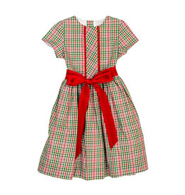 The Bailey Boys Mistletoe Plaid Dress