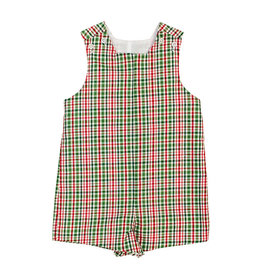 The Bailey Boys Mistletoe Plaid Short Jon Jon