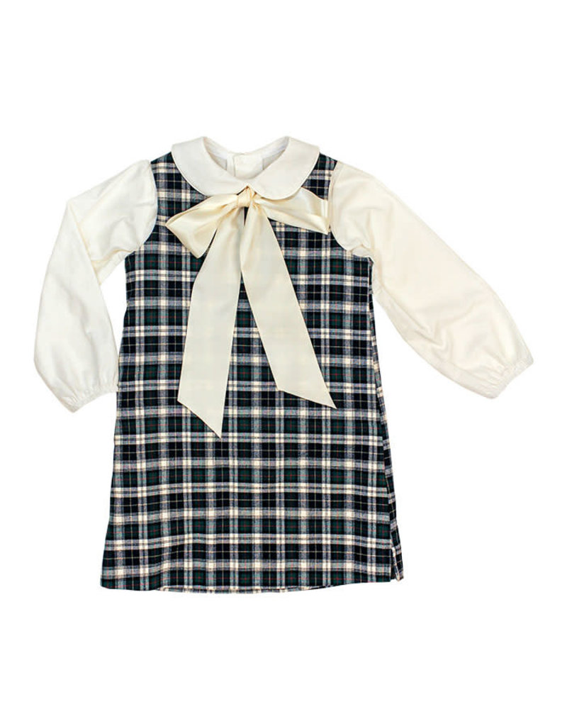 The Bailey Boys *PREORDER* Hunter Plaid Liza Dress with Blouse